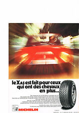 PUBLICTE advertising 1972   MICHELIN   pneu XAS HR