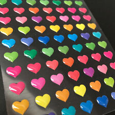 1 Sheets Rainbow Bright Heart Stickers Kids Crafts - Scrapbooking Diary Planner