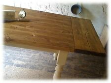 210cm Extending Shabby Chic Farmhouse plank top pine dining table. Various sizes