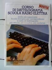 Scuola Radio Elettra - Brochure, depliant corso di DATTILOGRAFIA 1982