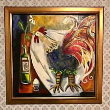 ONE OF A KIND OIL & MIXED MEDIA PAINTING BY RENOWNED FRENCH CANADIAN ARTIST