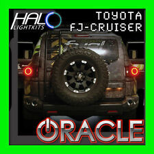2007-2011 TOYOTA FJ CRUISER RED LED TAIL LIGHT HALO RING KIT BY ORACLE LIGHTING