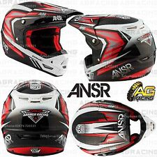 Answer 2017 Adult Helmet Evolve 3 Black Red White XS X-Small Motocross Enduro