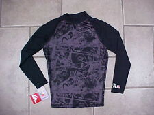 QUIKSILVER L/S RASH GUARD size S new NWT lycra