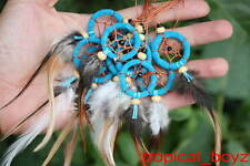 10 Blue mini Handmade Dream Catcher Dreamcatcher Cellphone Charm Wholesale Lot