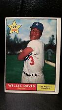 1961 Topps Willie Davis #506 Baseball Card Rookie Los Angeles Dodgers LA
