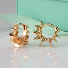 Unique 18k Yellow Gold Filled Womens Cool Earrings Hoop Huggie Fashion Jewelry