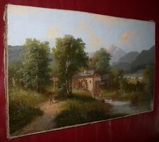 Alpenlandschaft mit Wassermühle. Barbarini-Kreis.