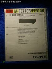 Sony Service Manual TA FE710R /FE910R Amplifier  (#4107)