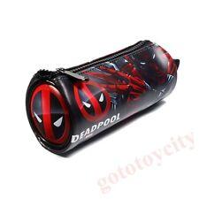Marvel Deadpool  Leather Pencil Case Water Bottle Pocket Makeup Bag