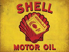 SHELL MOTOR OIL VINTAGE METAL SIGN GARAGE:MAN-CAVE:HOME DECOR: IDEAL GIFT NO 2