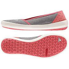 adidas Boat Slip-On Sleek - Boot / Freizeitschuh in UK Größe 5 - Farbe grau/rosa