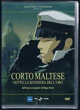 CORTO MALTESE SOTTO LA BANDIERA DELL'ORO DVD RAI TRADE F.C. SIGILLATO!!!
