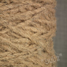 SUPER CHUNKY BERBER RUG WOOL - BIG 400g CONE - MOUSE - NATURAL CARPET YARN BB01