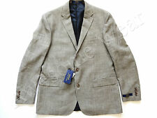 New Ralph Lauren Polo Flax & Wool Black White Houndstooth Sport Coat Jacket 44 R
