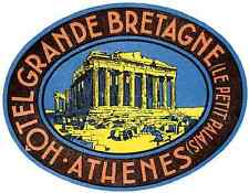 Grande Bretagne Luggage Label A4 Photo Print