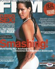Ana Ivanovic Sexy Tennis Signed Auto FHM Magazine Cover 8x10 PHOTO PSA/DNA COA