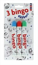 Bingo Dabbers / Markers - Pack of 3 Pens in Blue, Green and Red