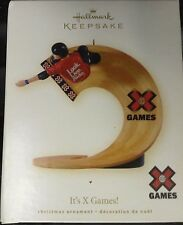 NIB 2008 HALLMARK KEEPSAKE CHRISTMAS ORNAMENT IT'S X GAMES ESPN SKATEBOARD TRACK