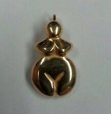 Goddess Pendant Ancient Earth Mother Primordial Archaeology Bronze Jewelry #P38B