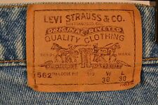 Levis 562 Orange Tab 30 x 30 Blue Loose Fit Student 100% Cotton