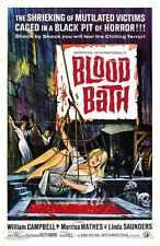 Baño de Sangre Afiche 01 A4 10x8 impresión fotográfica