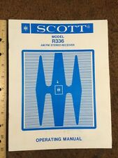 """H H Scott Model R336 AM/FM Stereo Receiver """"Original"""" Operating Manual 15 Pages"""