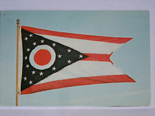 1973 OHIO STATE FLAG USA  POSTCARD WRITTEN & STAMPED GREAT STAMP