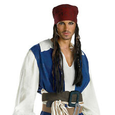 Pirates of the Caribbean Jack Sparrow Adult Costume Headband with Hair 18767