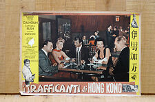 TRAFFICANTI DI HONG KONG fotobusta poster Rory Calhoun Barbara Rush Flight From