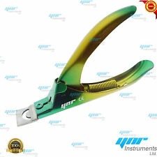 YNR Professional New Acrylic Nail Tip Cutter Clipper Gel False Nail Green Yellow