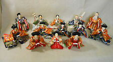 #81 Set of 13 Japanese Vintage HINA Doll / Attendant with Tools