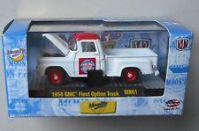 WHITE RED 1958 GMC FLEET TRUCK M2 Machines MOON PIE Diecast 1/64 in ACRYLIC BOX