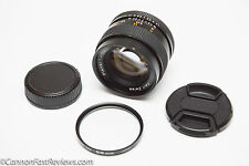 CARL ZEISS 50MM 1.4 PLANAR T* CONTAX CY MOUNT FAST SHARP LENS - nikon canon sony
