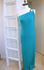 BNWT Michael Kors green/blue single shoulder slinky  evening dress size XS