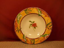 222 Fifth Dinnerware Tuscany Rose Pattern Rimmed Soup Bowl 9 1/8""