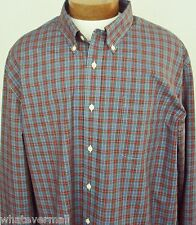 NWT Saddlebred LS Big and Tall Sport Shirt Button Blue Mens Wrinkle Free New XLT