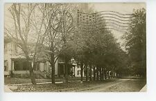 Gorham NY South Street Dirt Road RPPC Victorian Porches 1910