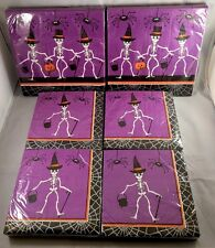 Dancing Skeletons HALLOWEEN party napkins - 36 large, 72 small - NIP