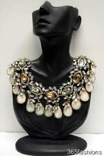 STATEMENT RETRO VINTAGE STYLE FAUX CRYSTAL COIN STYLE COLLAR NECKLACE MULTI