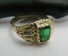 Atocha Shipwreck Artifact 14k Gold Pirate Emerald Stunning Royalty Ring Replica