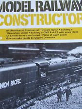 MODEL RAILWAY CONSTRUCTOR MAGAZINE AUG 1971 AMERICAN CONTINENTAL HO SCALE LAYOUT
