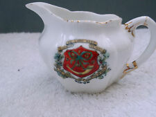 1895 + MODEL OF A SMALL SHAPED JUG CRESTED RIPON BY FOLEY CHINA, WILDMAN