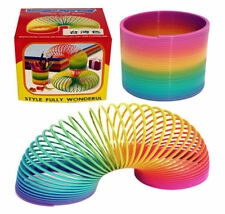 Rainbow Coloured Spring Slinky Childrens Toy Springs Bouncy Toy Ideal For Party