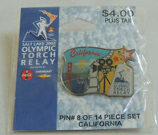 2002 OLYMPIC TORCH RELAY pin CALIFORNIA MIP orig pkg olympics