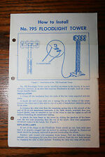 Lionel instruction Sheet for Lionel No. 195 Floodlight Tower