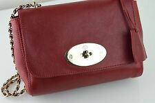MULBERRY LILY Poppy Small Classic Grain Leather Handbag 17x21x9cm Dust Bag