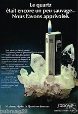 Publicité advertising 1977 Le Briquet Quartz Sarome