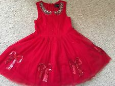Girls NEXT SIGNATURE Red Sequin Bow Tulle Tutu Party Dress/Size 3