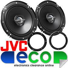 VW Polo 9N3 2005-09 JVC 16cm 600 Watts 2 Way Front Door Car Speakers & Brackets